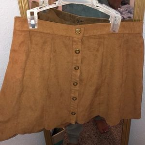 Suede brown skirt